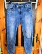Jeansy spodnie boyfriend przecierane stylizowane Diverse 40 L...