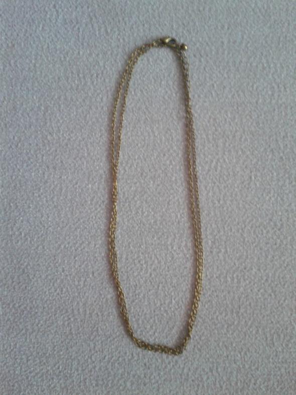 Długi łańcuszek kolor stare złoto 88cm nowy