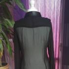 Czarna koszula mgiełka