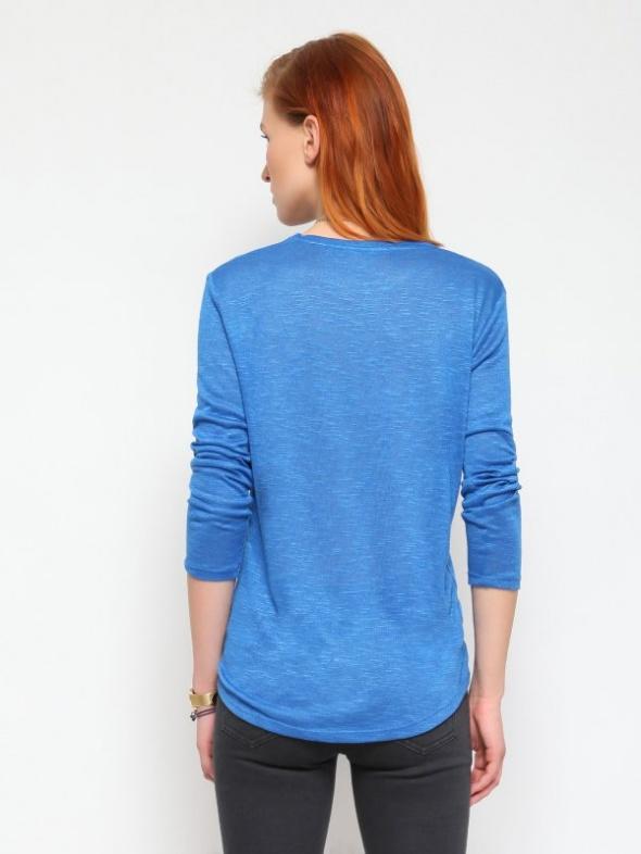 Terranova niebieski sweter w serek S...