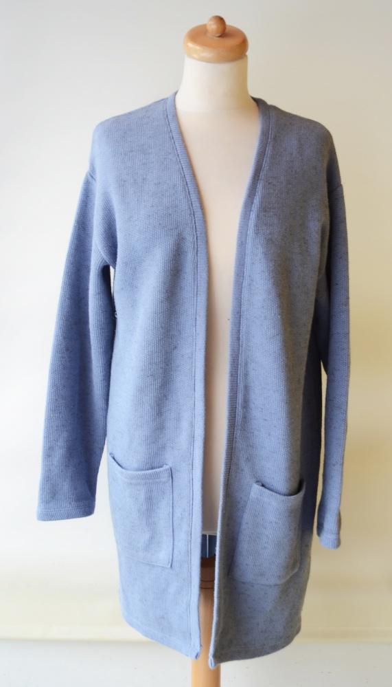 Sweter XL 42 BYoung Niebieski Kardigan Dłuższy...