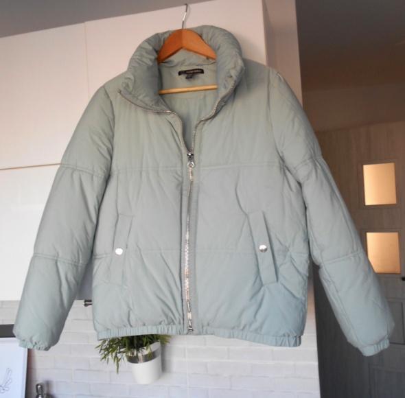 Zara kurtka błękitna puchowa ciepła zimowa baby blue oversize
