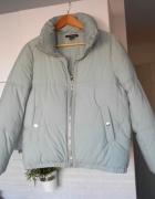 Zara kurtka błękitna puchowa ciepła zimowa baby blue oversize...