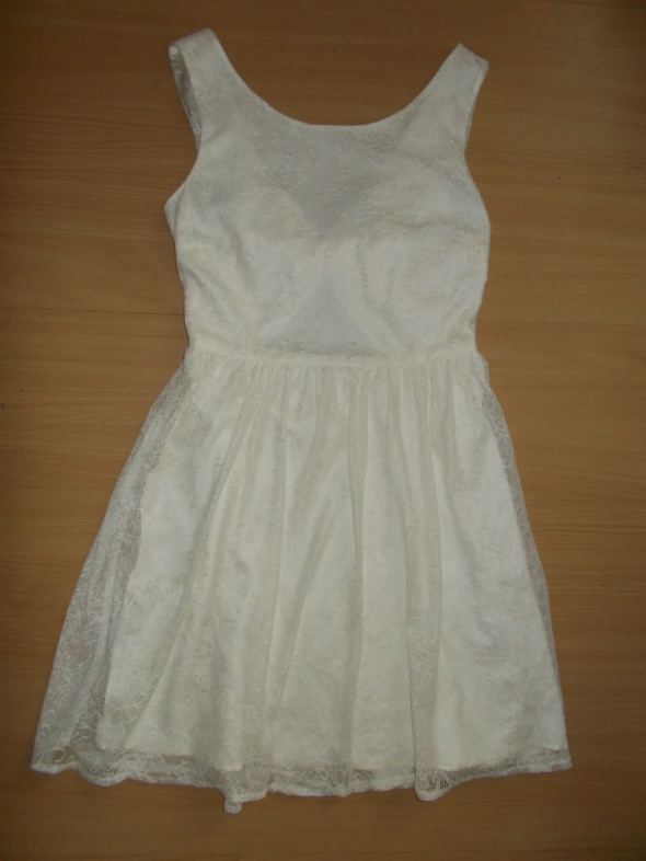 Suknie i sukienki koronkowa kremowa sukienka New Look rozmiar UK 8 EU 36