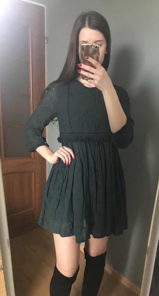 Koronkowa sukienka ZARA...