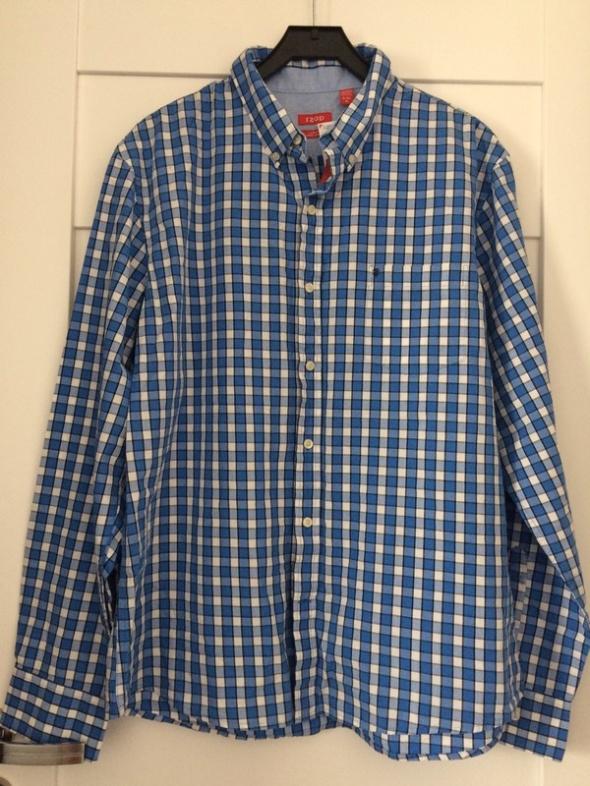 Niebiesko biała koszula w kratkę