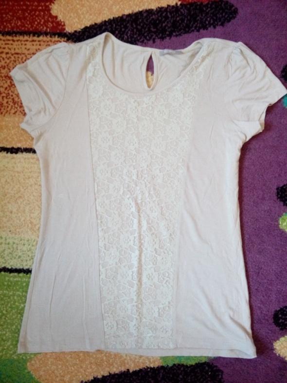 Bluzki Beżowa bluzka 42 44