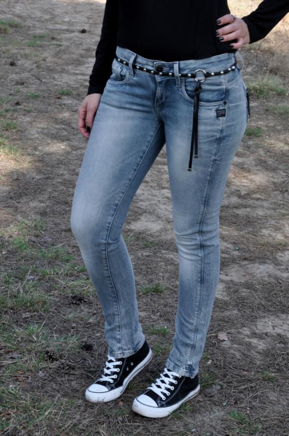 niebieskie jeansy G Star Raw...