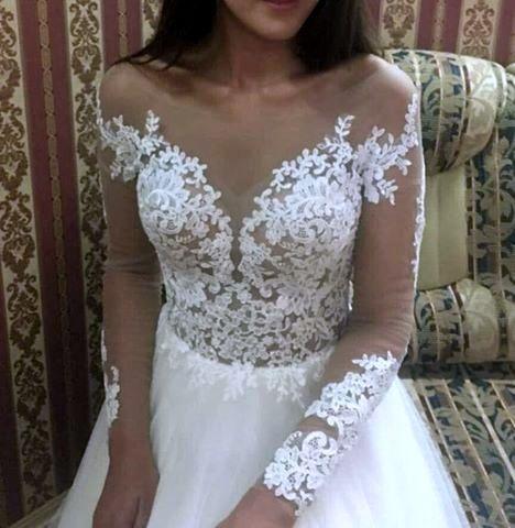 NOWA suknia ślubna 36 38 ivory tren jak Milla Nova Marsela