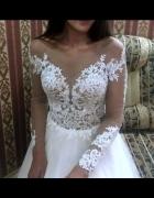 NOWA suknia ślubna 36 38 ivory tren jak Milla Nova Marsela...