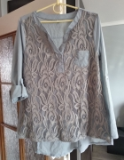 Bluzeczka zapinana na pleckach z koronką roz 42...