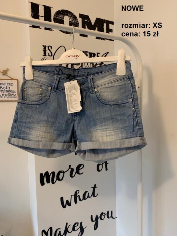 NOWE spodenki jeansowe XS S