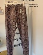 NOWE legginsy wężowy wzór S 36
