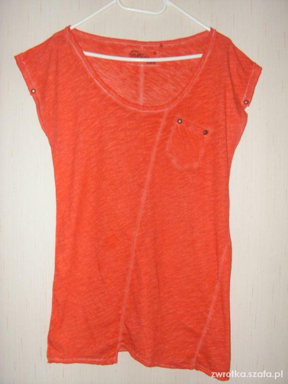 Pomarańczowa oryginalna bluzka