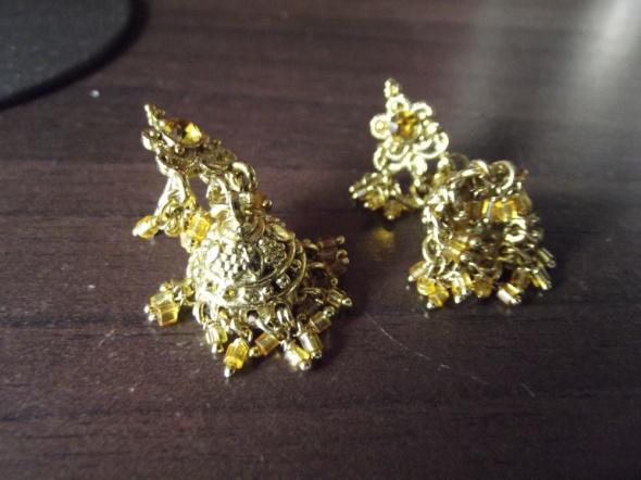 Kolczyki Orientalne kolczyki w kolorze złotym