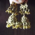Orientalne kolczyki w kolorze złotym
