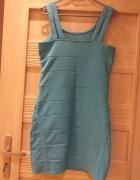 Turkusowa sukienka...