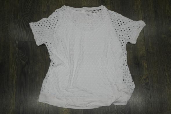 Bluzka biała 2w1 ażurowa
