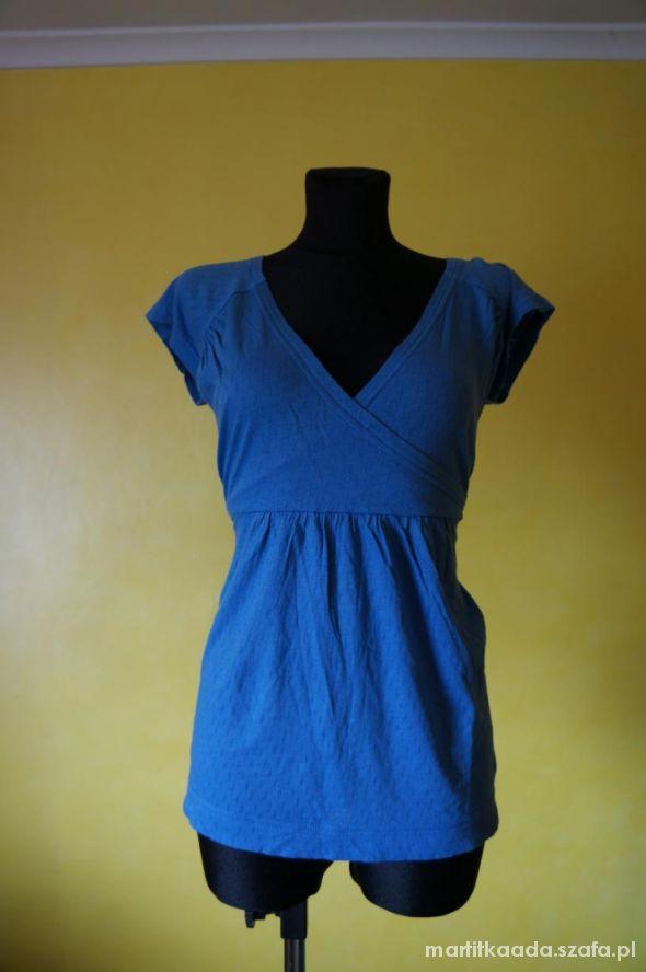 modna kopertowa bluzka niebieska tatuum rozm 44
