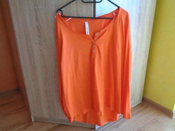 Pomarańczowa bluzka z dłuższym tyłem 4446 SHEEGO