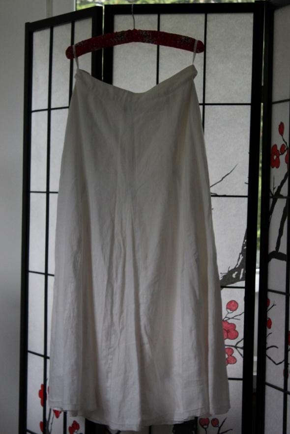 0eb4d30de7 spódnica midi jasna biała kremowa długa lniana w Spódnice - Szafa.pl