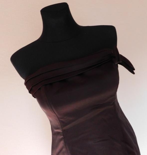 Coast brązowa sukienka gorsetowa 42...