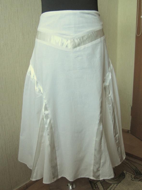 Debenhams długa kremowa spódnica 40