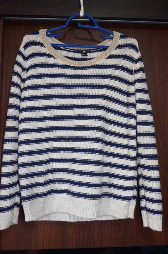 Sweter marynarski w paski L...