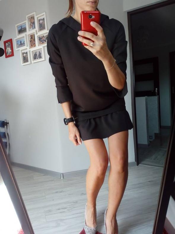 Suknie i sukienki NOWA sukienka mała czarna M Z FALBANĄ