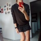 NOWA sukienka mała czarna M Z FALBANĄ