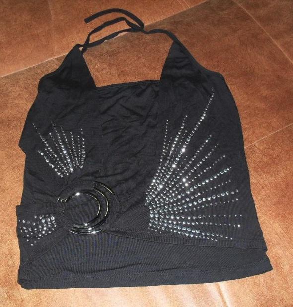 czarna bluzka z dzetami roz 36
