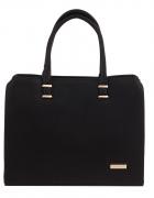 Torebka aktówka kufer biznesowy czarny skóra logo...