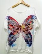 bluzka 44 kolorowy motyl Reserved...