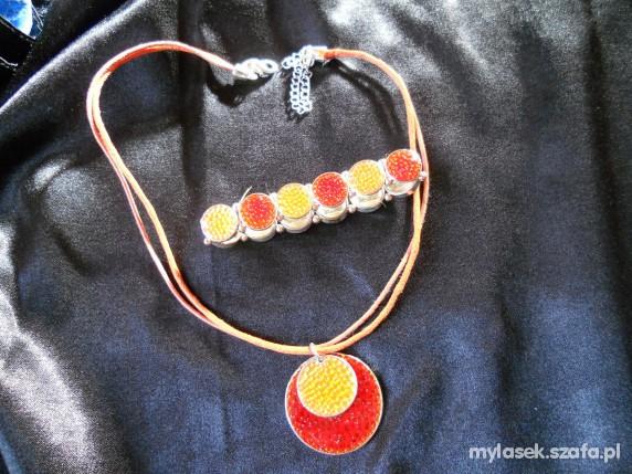 orientalny komplet bransoletka naszyjnik