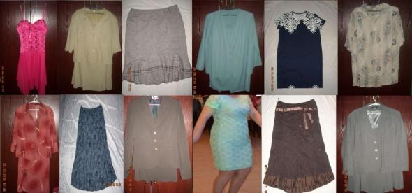 Spodnie koszula bluzka garsonka buty emu kurtka sweter 42 44 46 48 52