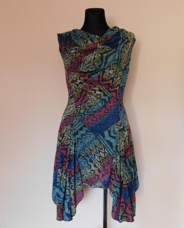 Joe Browns sukienka kolorowa dzianina 38 40