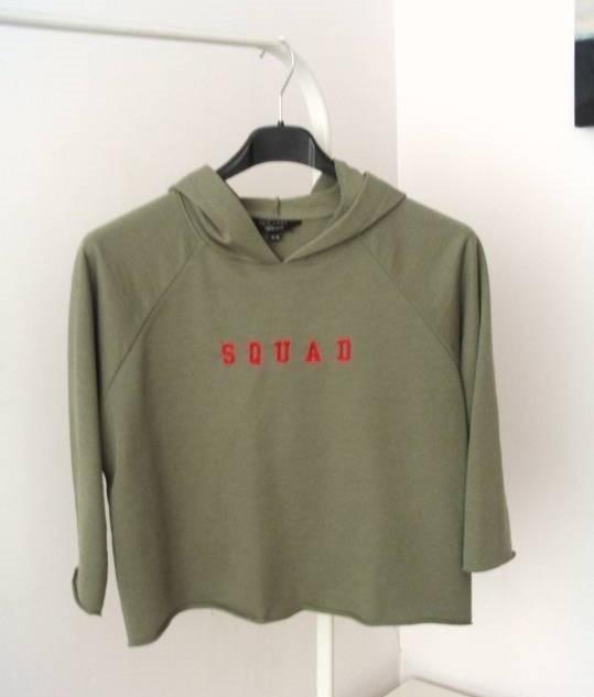 Militarna bluza khaki Squad crop top New Look...