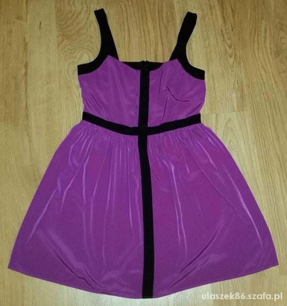 liliowa sukienka L