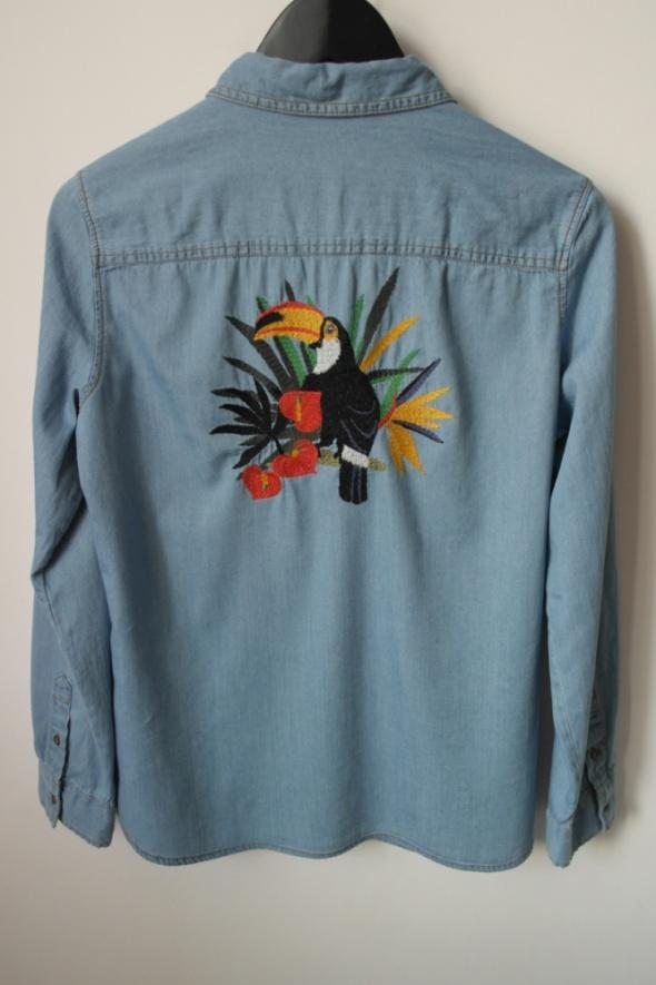 ZARA BASIC nowa z metką koszula z haftem na plecach r L