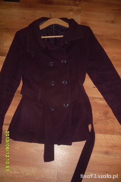 Fioletowa kurtka płaszczyk