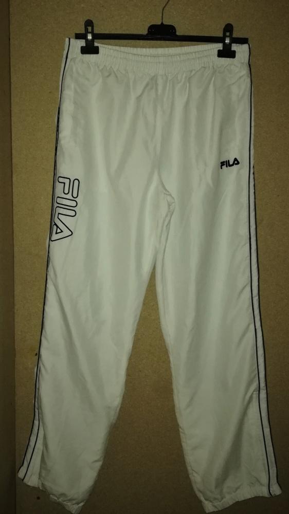 Fila Białe spodnie sportowe z podszewką L 40