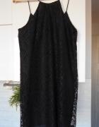 Zara nowa koronkowa czarna sukienka na ramiączkach...