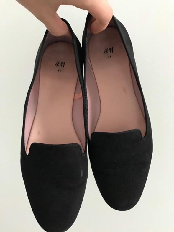Czarne balerinki lordsy hm
