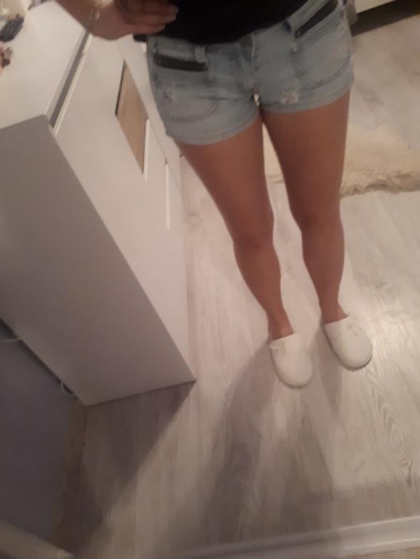 Jasne Jeansowe szorty spodenki S