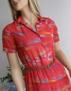 sukienka letnia czerwona S M retro vintage groszki kropki Goodw...