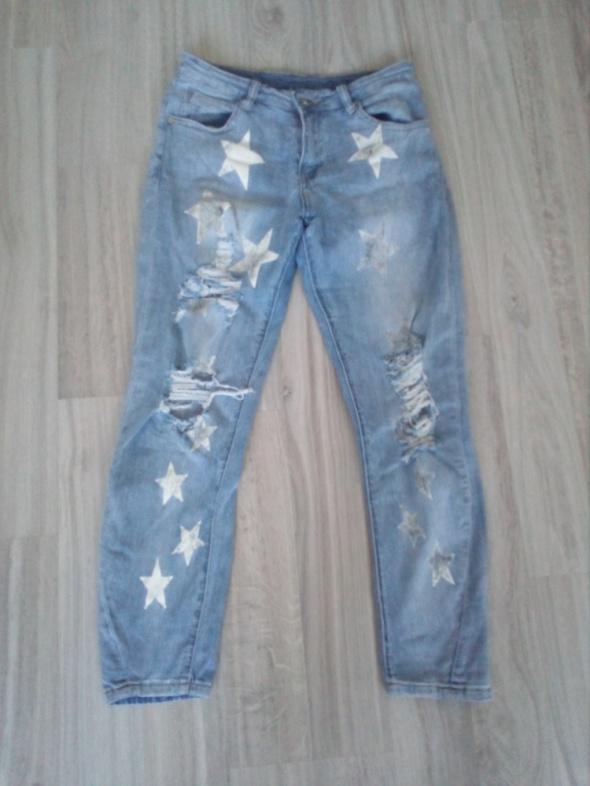 spodnie przetarcia gwiazdy S...
