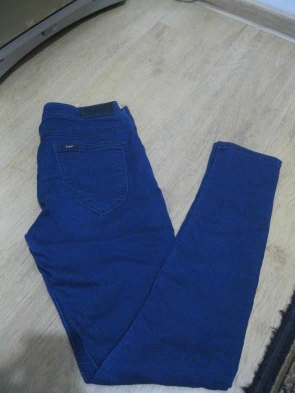spodnie jeans rurki LEE scarlett W28 L31 granatowe