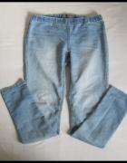 VERO MODA jeansy tregginsy na gumce M L jasno niebieskie...