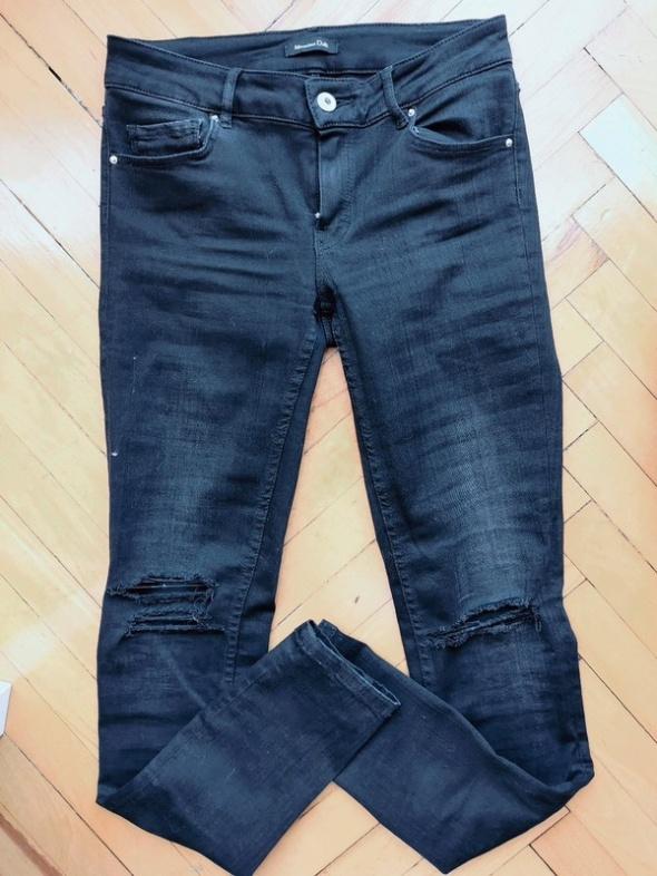 Czarne jeansy Massimo Dutti
