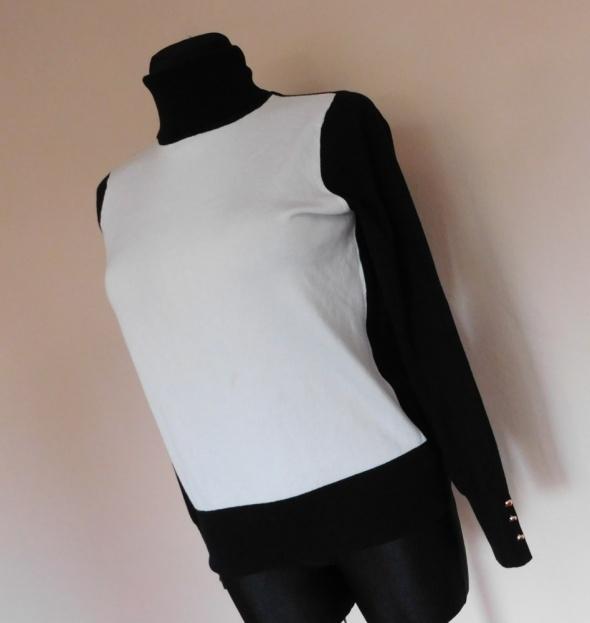 Forever 21 bluzka sweterek biała czarna 38